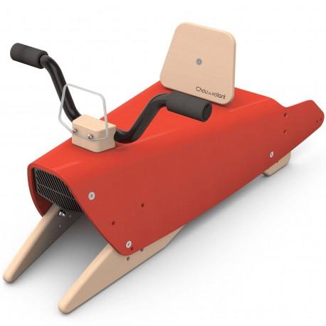 Moto rouge à Bascule en bois