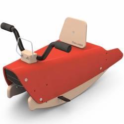 Bascule moto en bois rouge