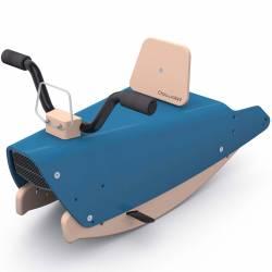 Moto à bascule en bois bleu marine
