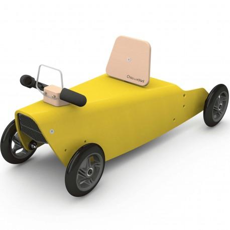 Porteur + Draisienne voiture en bois made in France