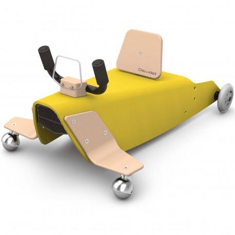 Porteur + Draisienne bébé avion en bois made in France