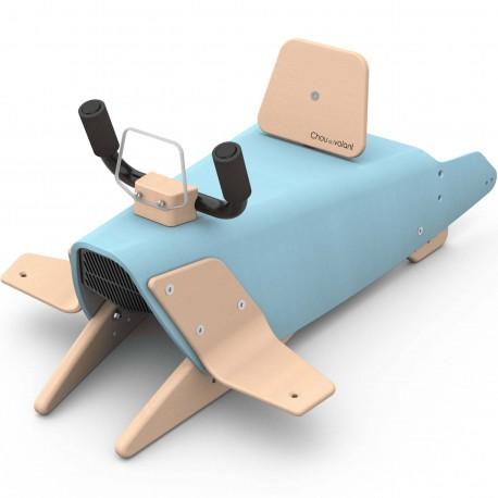 Bascule + Porteur + Draisienne bébé avion en bois made in France