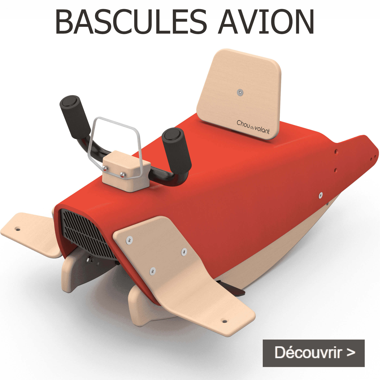 Bascules avion en bois made in France pour bébé 1+