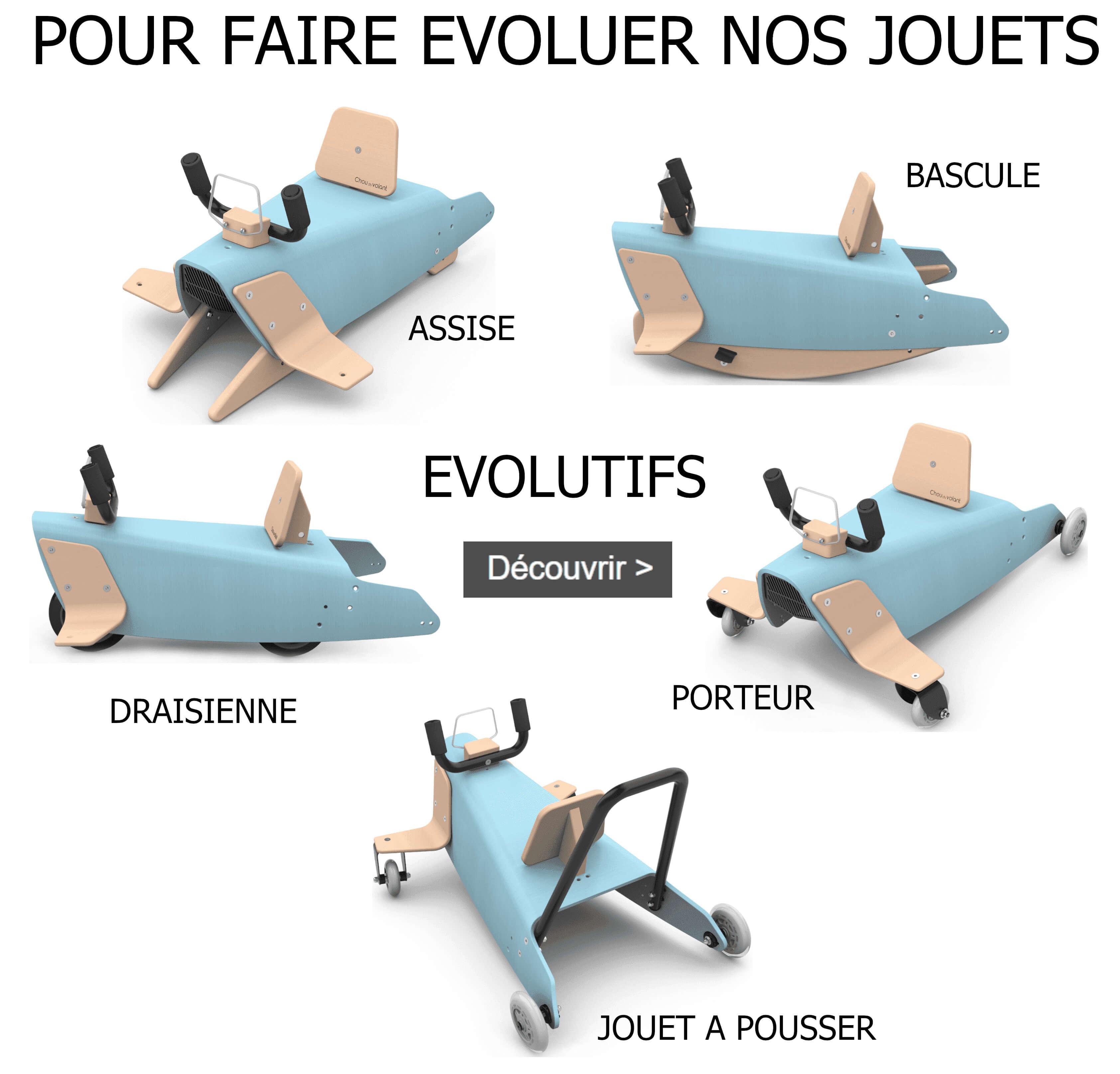Pièces détachées pour bascules porteurs draisiennes made in France