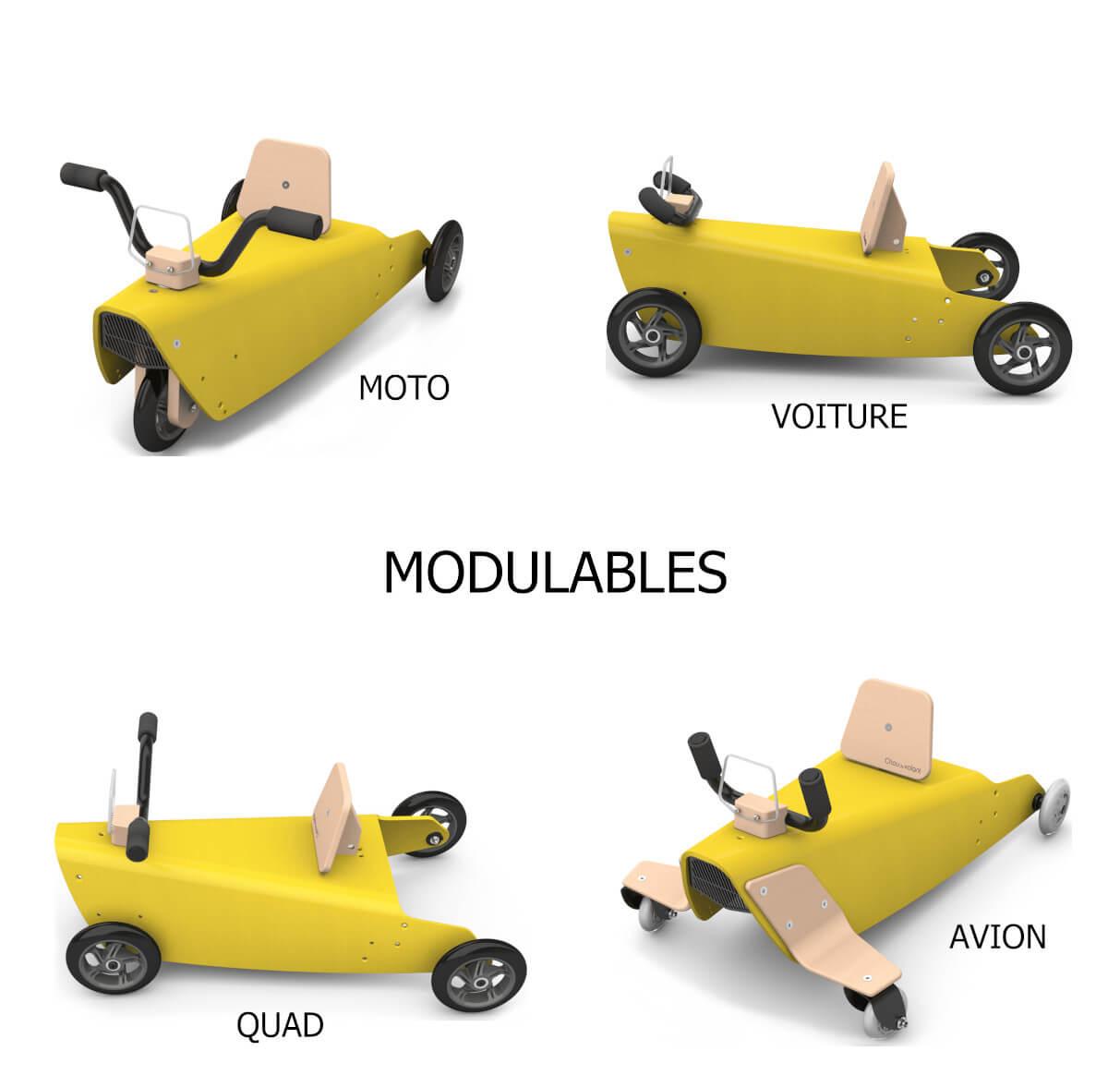 Jouets en bois modulables
