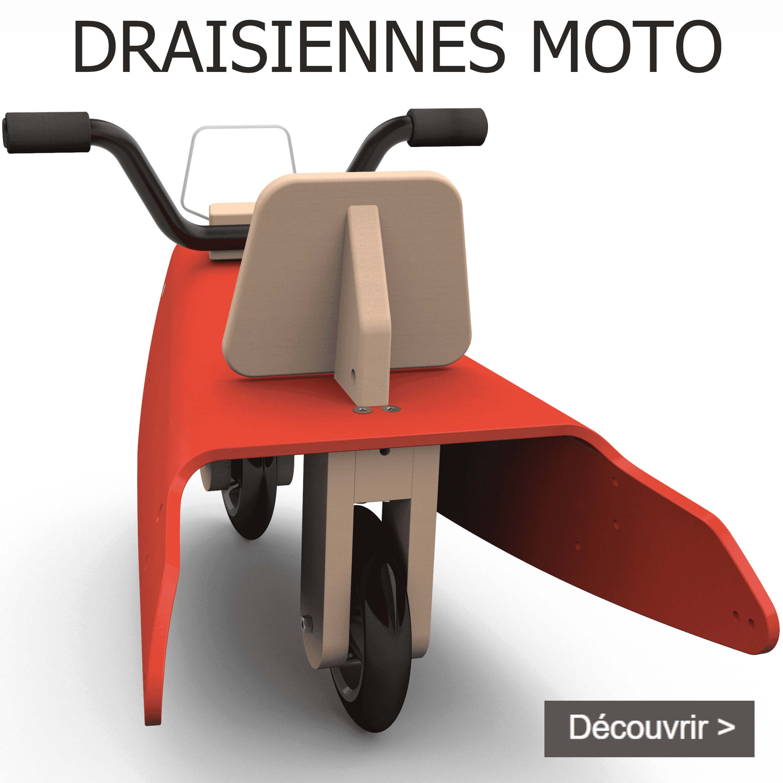 Draisiennes moto en bois fabrication en France pour enfant de 1 à 3 ans