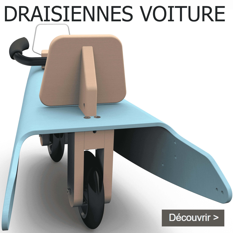 Draisiennes voiture en bois fabrication en France pour enfant de 1 à 3 ans