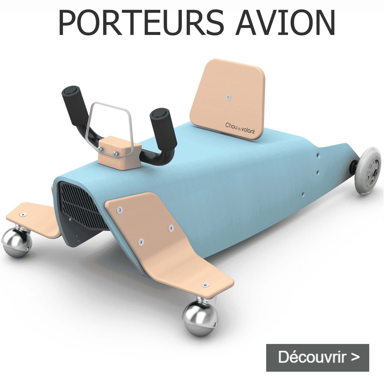 Porteurs avion en bois fabriqués en France pour bébé de 1 an