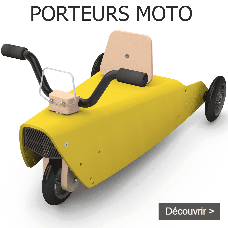 Porteurs moto en bois fabriqués en France pour bébé de 1 an