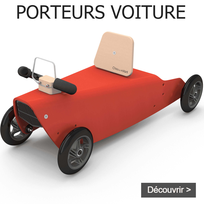 Porteurs voiture en bois fabriqués en France pour bébé de 1 an