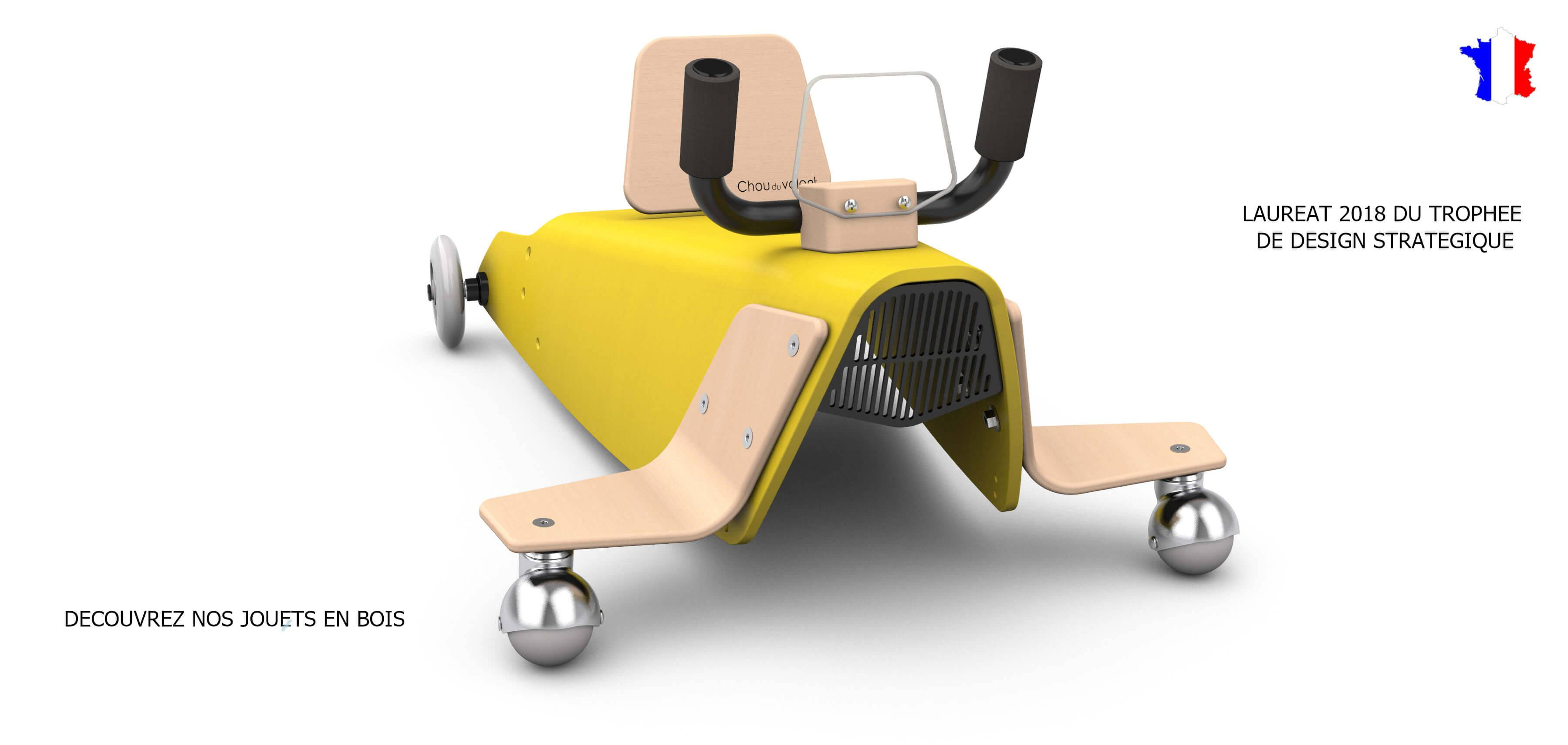 Porteur avion en bois pour enfant de 1 à 3 ans