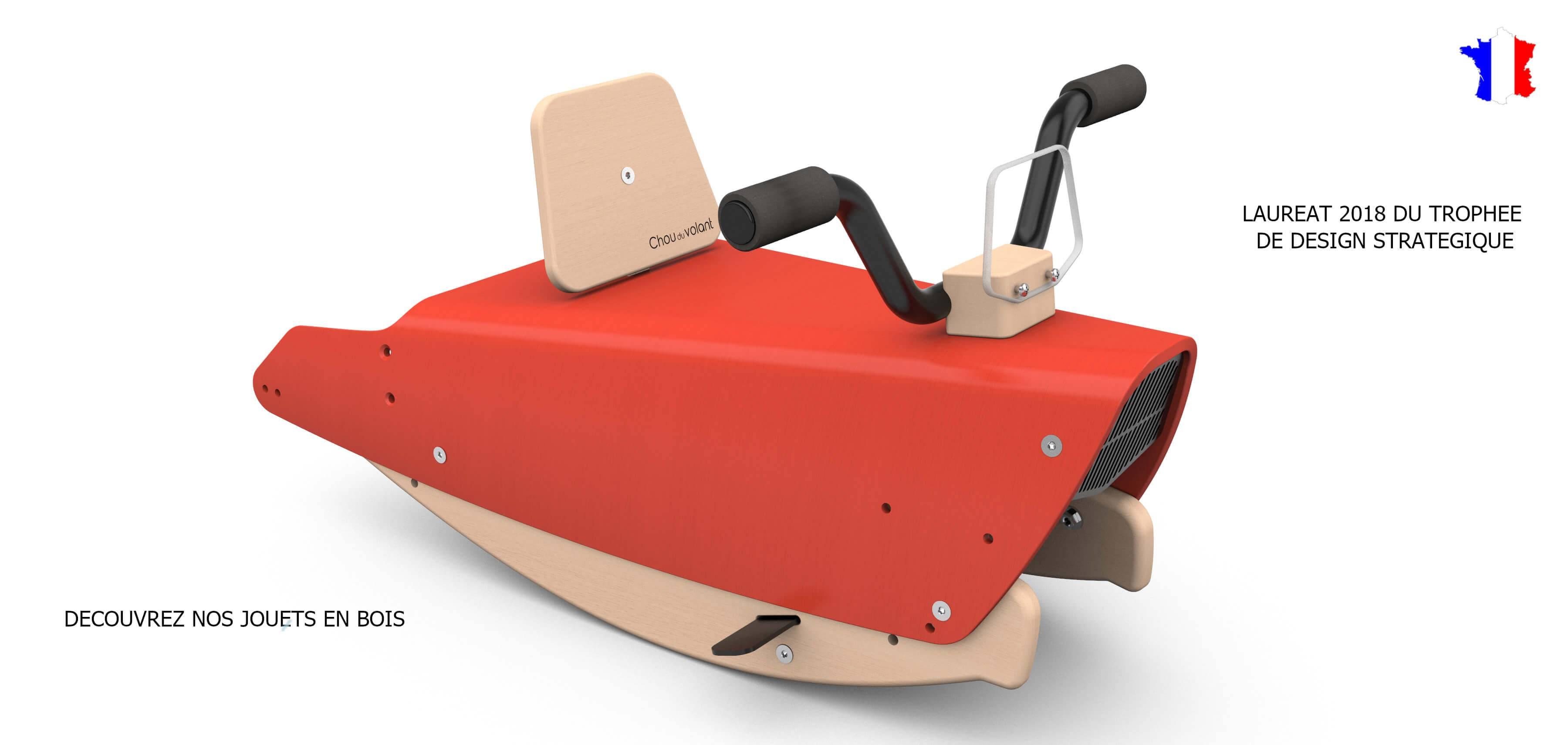 Moto à bascule en bois pour enfant de 1 à 3 ans