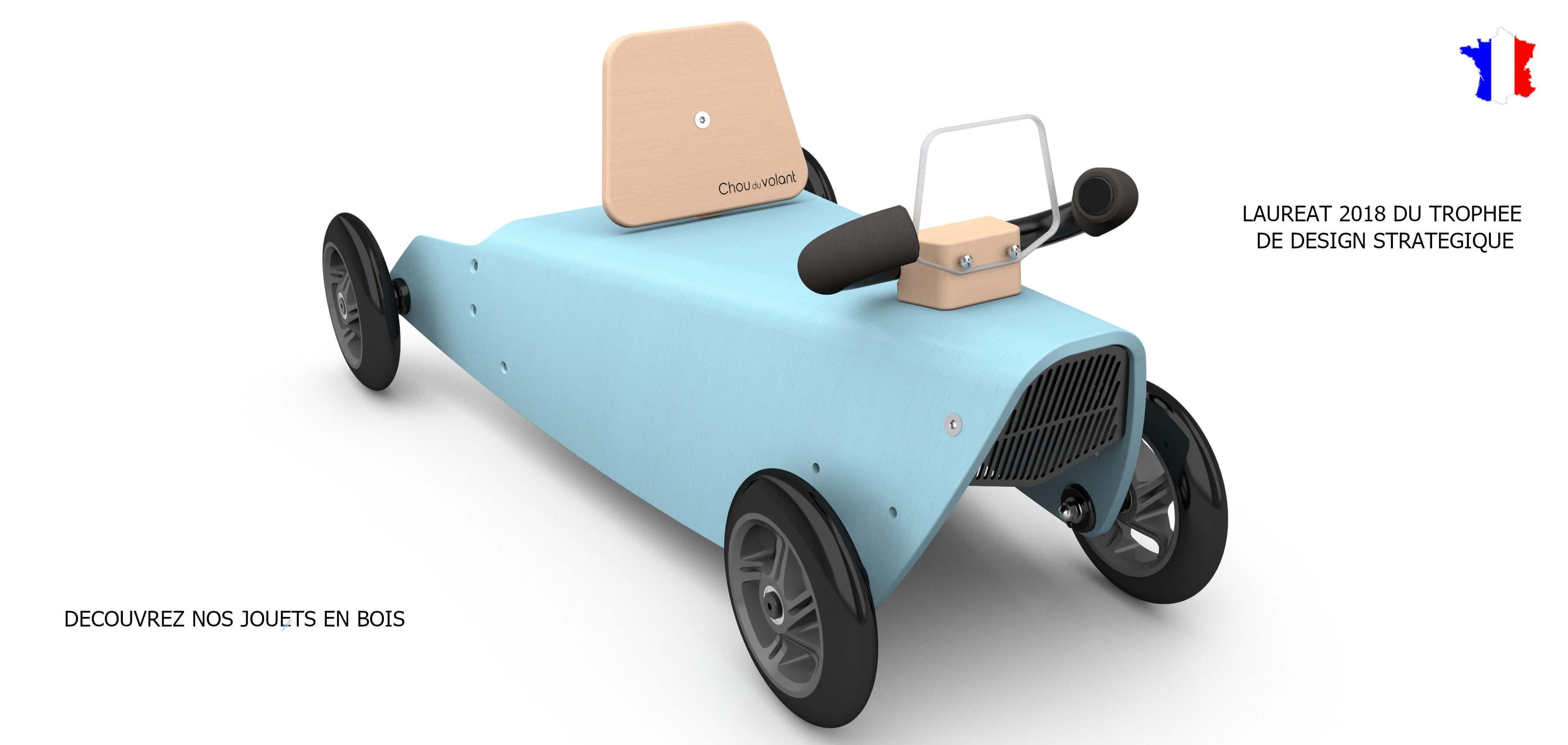 Porteur voiture en bois pour enfant de 1 à 3 ans