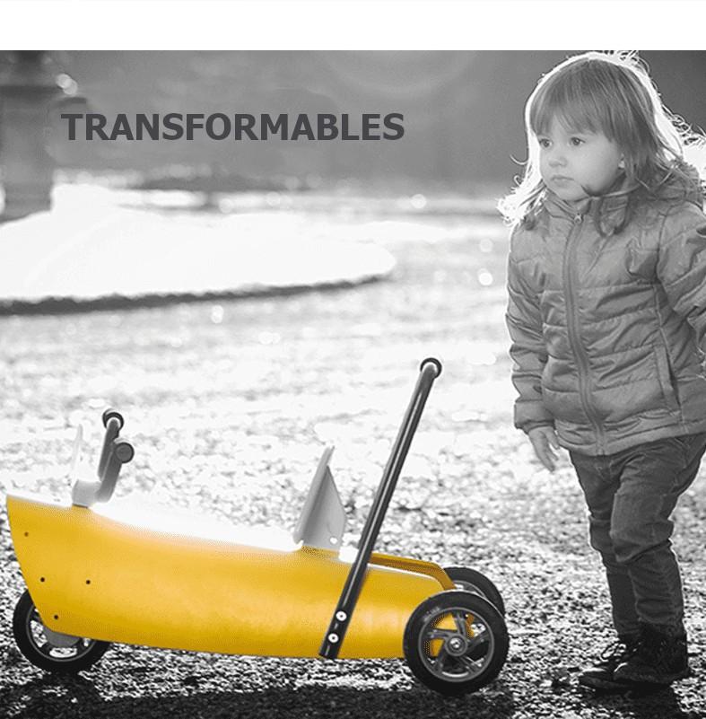 Des bascules et des porteurs bébé transformables